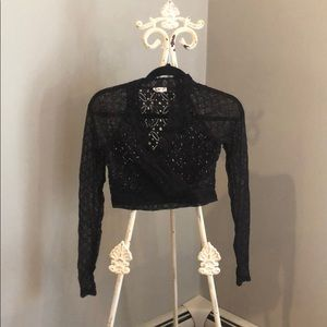 NWOT Intimately free people black lace top
